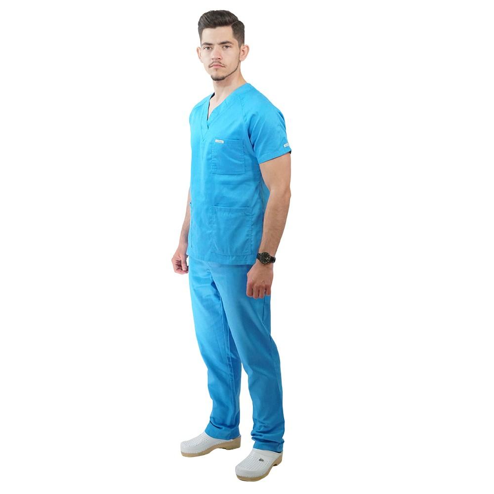 Costum medical Lotus 2, Basic 2, albastru deschis