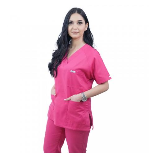 Costum medical Lotus 2, Basic 2, fucsia