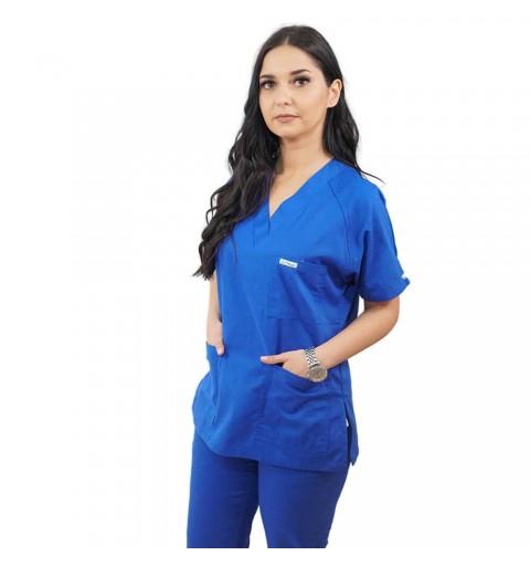 Costum medical Lotus 2, Basic 2, albastru royal