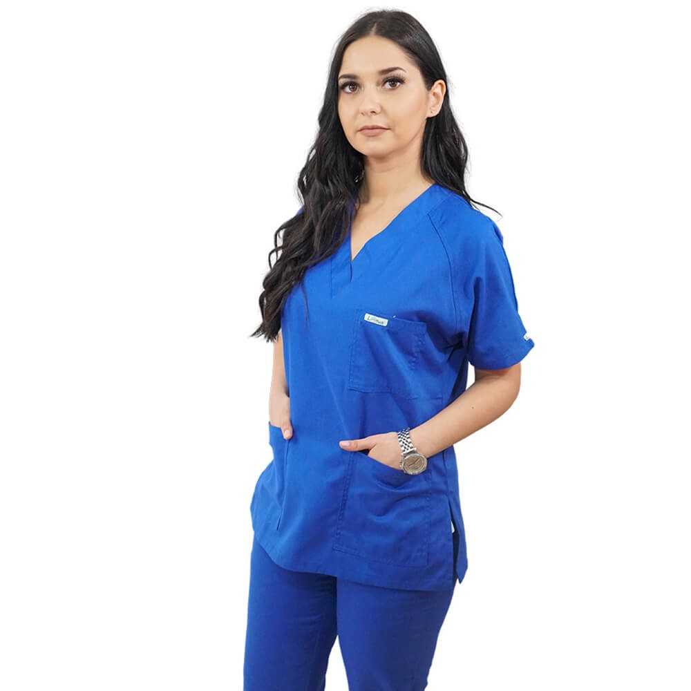 Costum medical Lotus 2, Basic 2, albastru royal