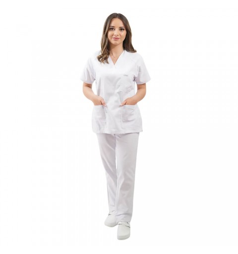 Costum medical Lotus 2, Basic 2, alb