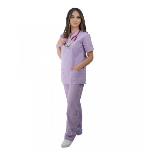 Costum medical Lotus 1, Basic 1, lila marimi extra large