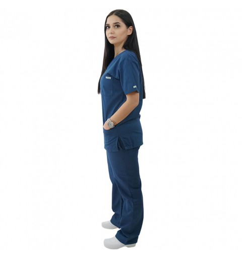 Costum medical Lotus 2, Basic 1, turcoaz inchis