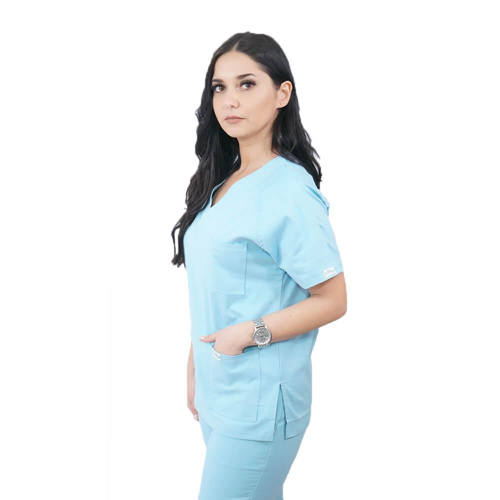 Costum medical Lotus 3, Basic 2, unisex, albastru