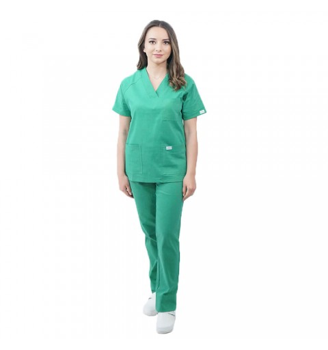 Costum medical Lotus 3, Basic 2, unisex, verde chirurgical