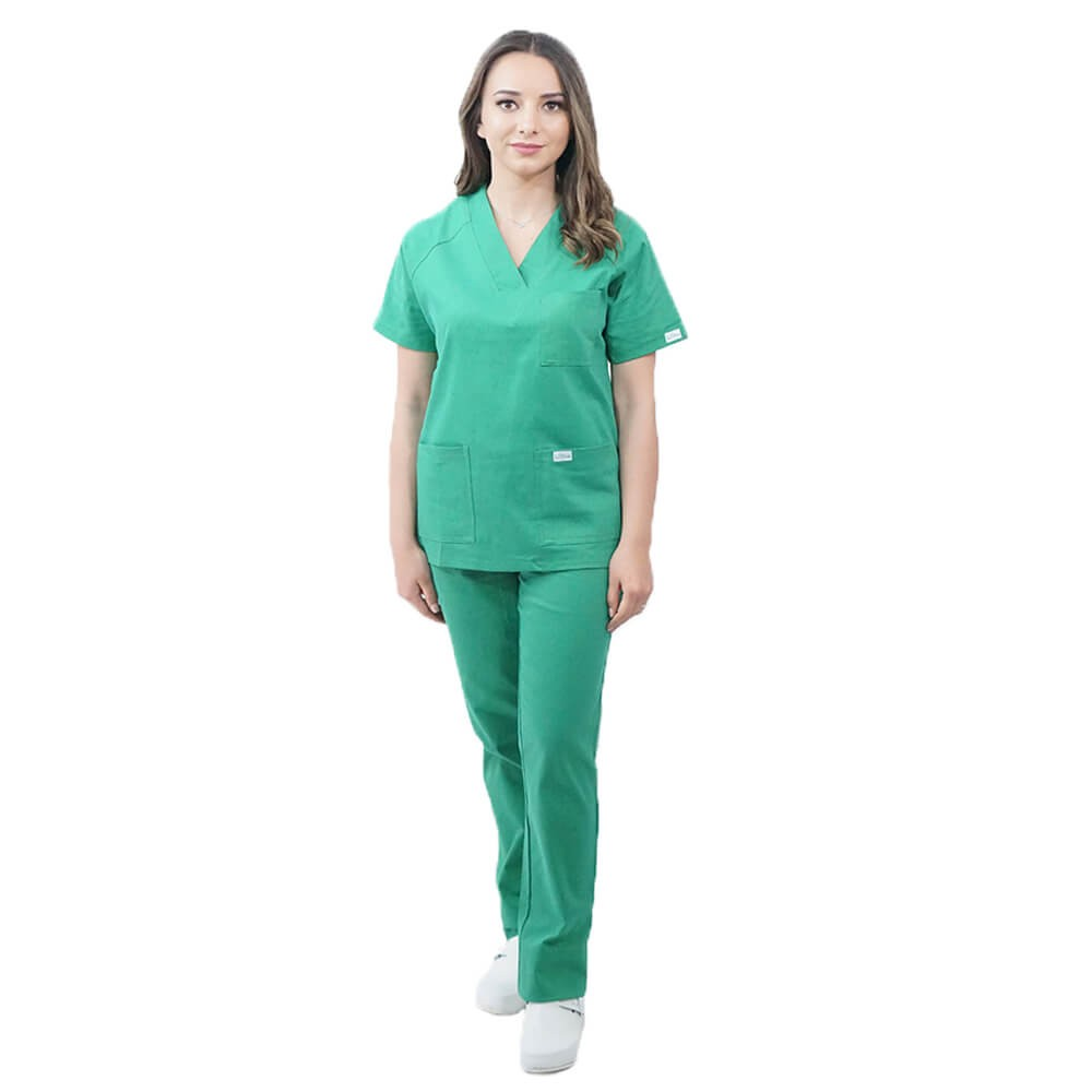 Costum medical Lotus 3, Basic 2, unisex, verde
