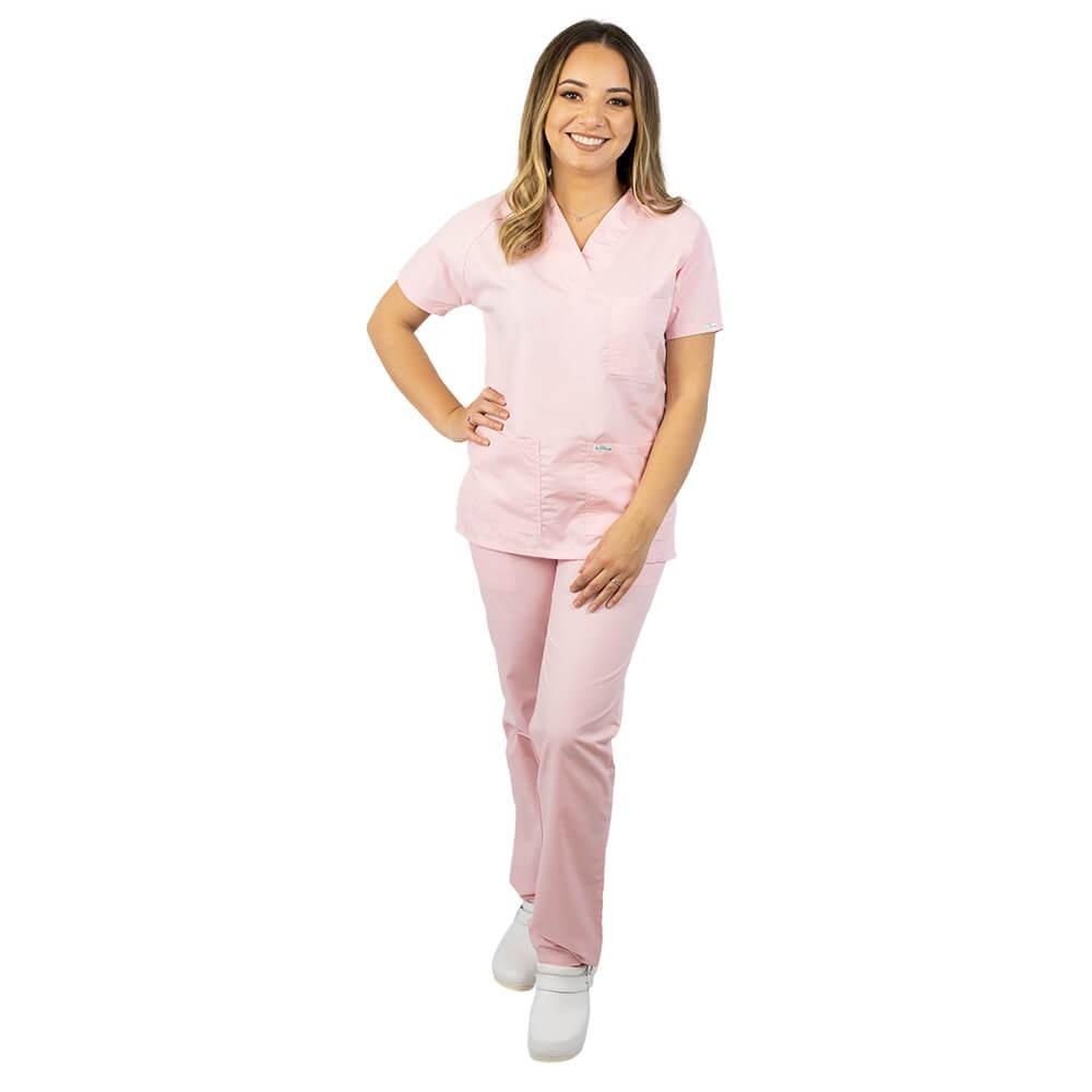 Costum medical uniex Lotus 4, Basic 2, roz