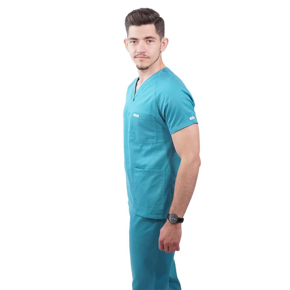 Costum medical Lotus 2, Basic 2, turcoaz deschis