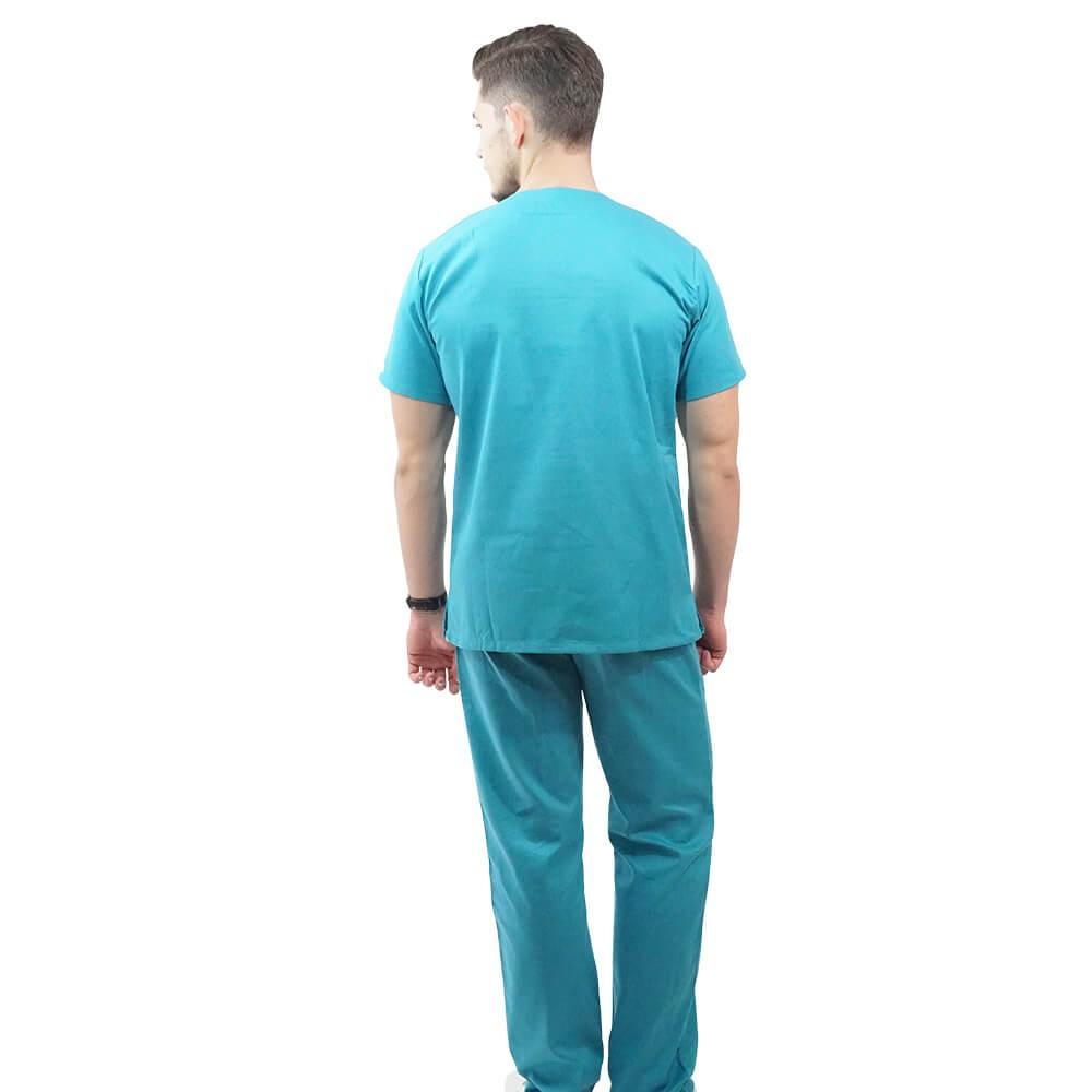 Costum medical Lotus 2, Basic 1, turcoaz deschis